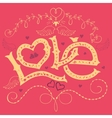 Love hand-lettering Valentines day card vector image