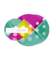 Round shapes circle banner with sample text vector image vector image
