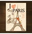 Vintage Paris Poster vector image