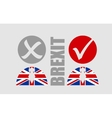 Great Briitain leaves european union referendum vector image