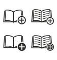 add book icon set vector image