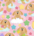 babies with bunny vector image