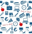 back to school doodle pattern vector image