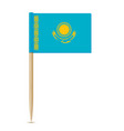 flag of kazakhstan flag toothpick 10eps vector image