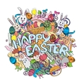 Happy Easter colorful isolated on vector image