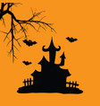 house hallowen vector image