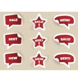 Red Labels New best and sale vector image