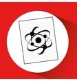 science laboratory atom drawing graphic vector image