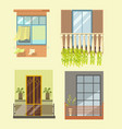 windows and house balcony different stlyes vector image
