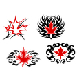 Maple leaf mascots and symbols vector image vector image