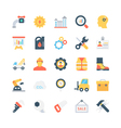 Industrial Colored Icons 2 vector image
