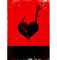 Heart on a hook vector image vector image