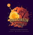 halloween party background design vector image