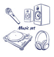 icon set music vector image