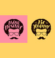 think positive be happy lettering typographic vector image vector image
