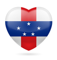 Heart icon of Netherlands Antilles vector image