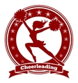 Cheerleader badge or cheer logo vector image