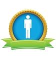 Gold man logo vector image vector image