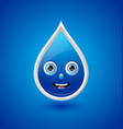 Water drop character vector image