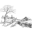 early spring landscape vector image vector image