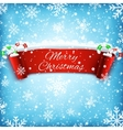 Merry Christmas celebration background vector image