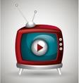 TV live stream vector image