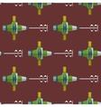 construction mixer seamless pattern vector image