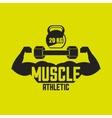 athletic training design vector image