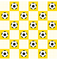 Football Ball Yellow White Chess Board vector image