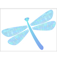 colored dragonfly in format vector image