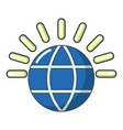 global communication icon cartoon style vector image