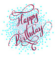 happy birthday red text on on colored circles vector image