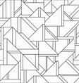monochrome retro triangle seamless pattern vector image