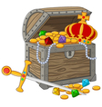 Open Treasure Chest vector image