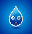 Water drop character vector image