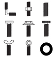 Set of screws icon vector image