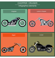 Set of elements choppers cruisers vector image