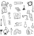 Doodle of tools school hand draw vector image