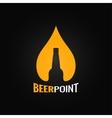 beer glass bottle drop design background vector image