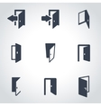 black door icon set vector image