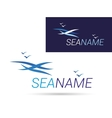 Design Modern sea logos vector image