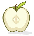 Green apple half vector image
