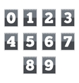 Number icons vector image