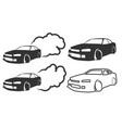 Race car drifting vector image