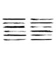 Set of grunge brush strokes in vector image