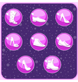 shoes buttons vector image