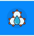 Water molecule flat icon vector image