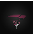wine bottle corkscrew design background vector image
