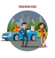 colorful car insurance template vector image
