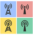 communication tower icon set vector image